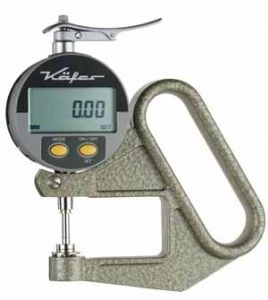 KÄFER Digital Thickness Gauge JD 50 with Lifting Device - Reading: 0.01 mm